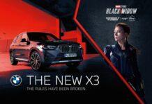 Scarlett Johansson conduce un BMW X3 în Black Widow